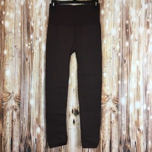 Pants - NEW Brown Fleece Lined Leggings One Size